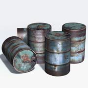 Tambor de residuos modelo 3d