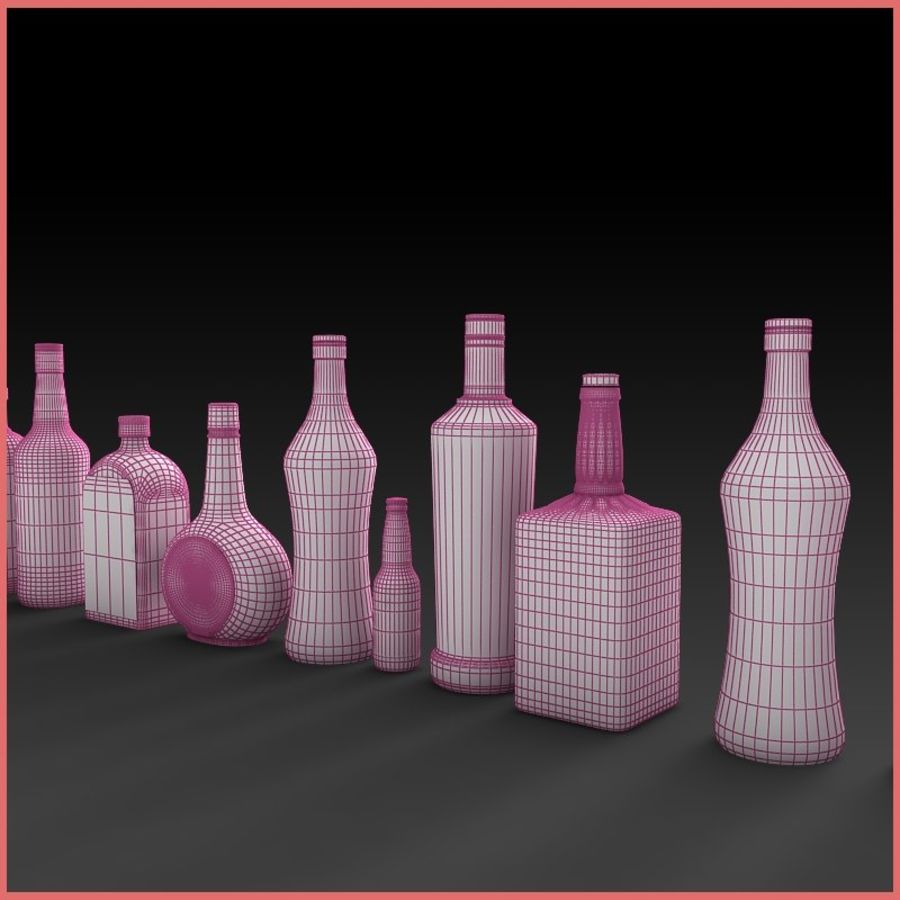 Liquor Bottles Collection royalty-free 3d model - Preview no. 6