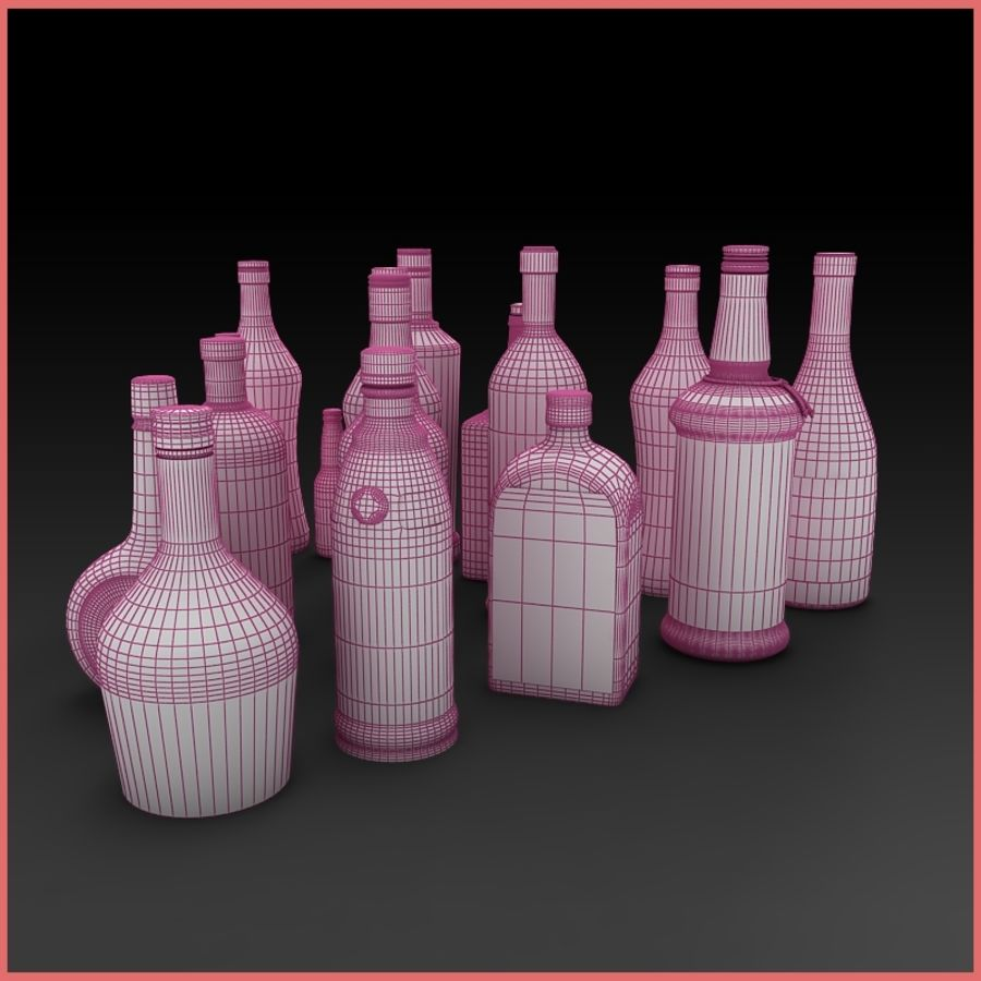Liquor Bottles Collection royalty-free 3d model - Preview no. 5