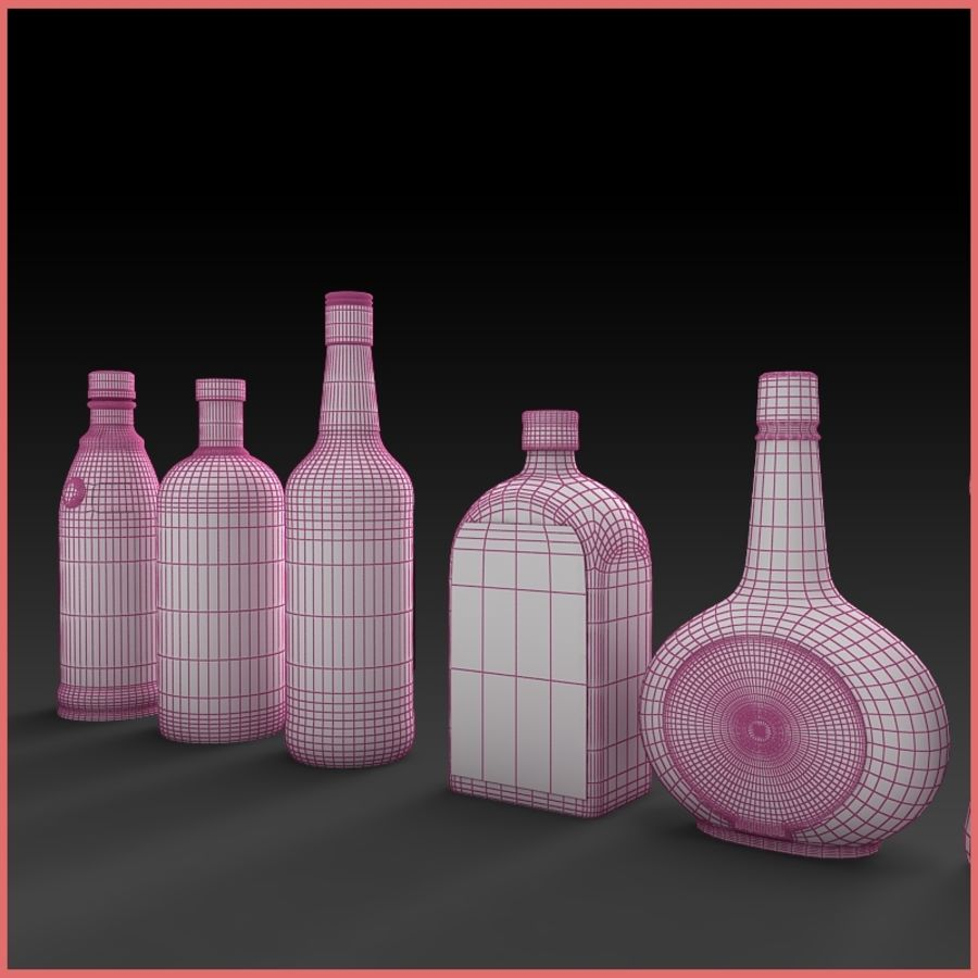 Liquor Bottles Collection royalty-free 3d model - Preview no. 8