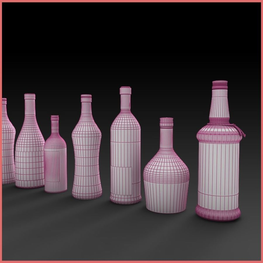 Liquor Bottles Collection royalty-free 3d model - Preview no. 7