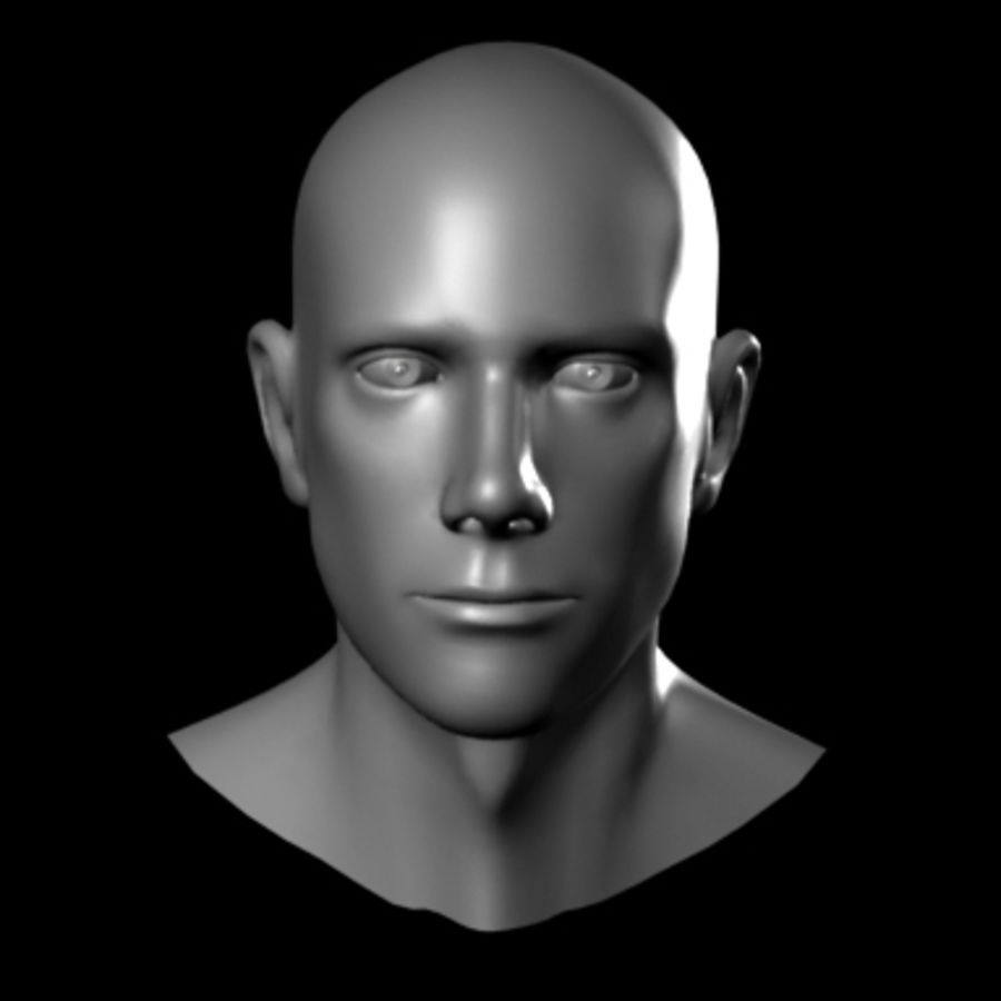 Male Head royalty-free 3d model - Preview no. 4