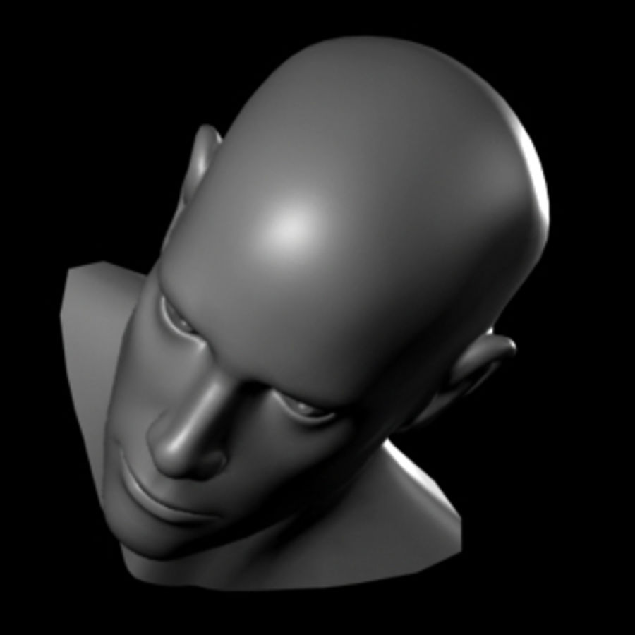 Male Head royalty-free 3d model - Preview no. 2