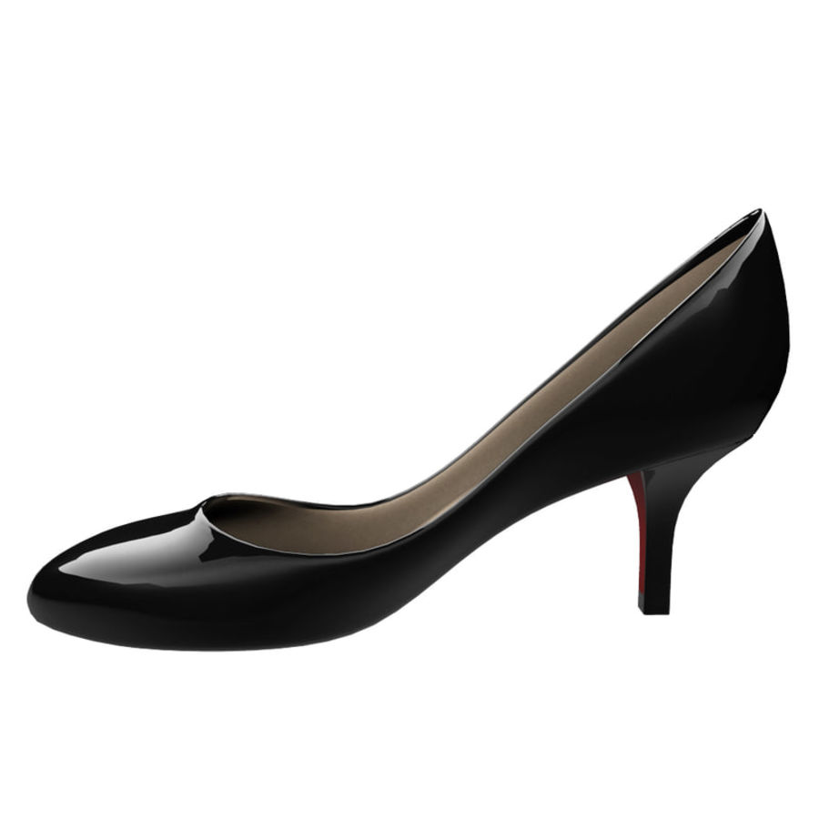 Womens Shoes (pumps) royalty-free 3d model - Preview no. 2