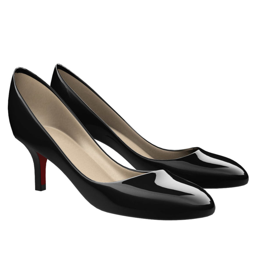 Womens Shoes (pumps) royalty-free 3d model - Preview no. 1