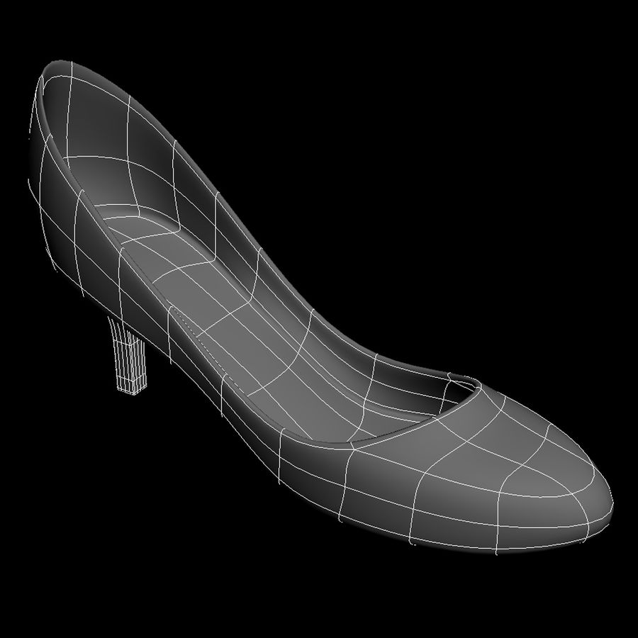 Womens Shoes (pumps) royalty-free 3d model - Preview no. 5