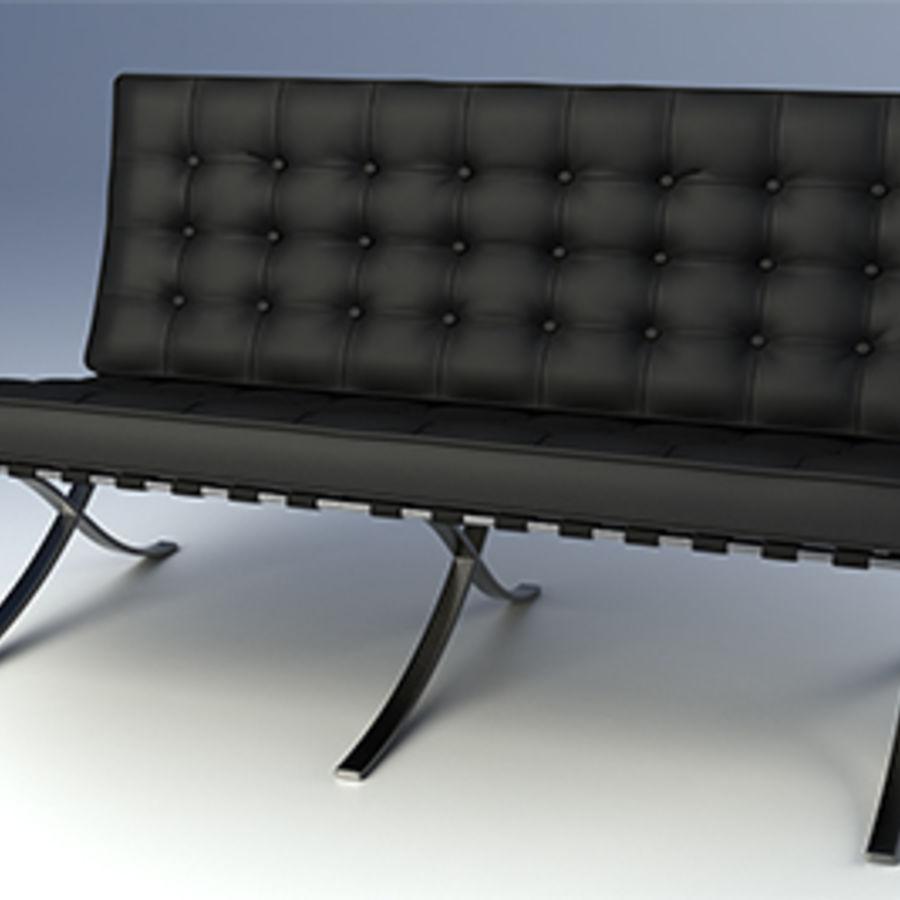 Collection de meubles de Barcelone royalty-free 3d model - Preview no. 3