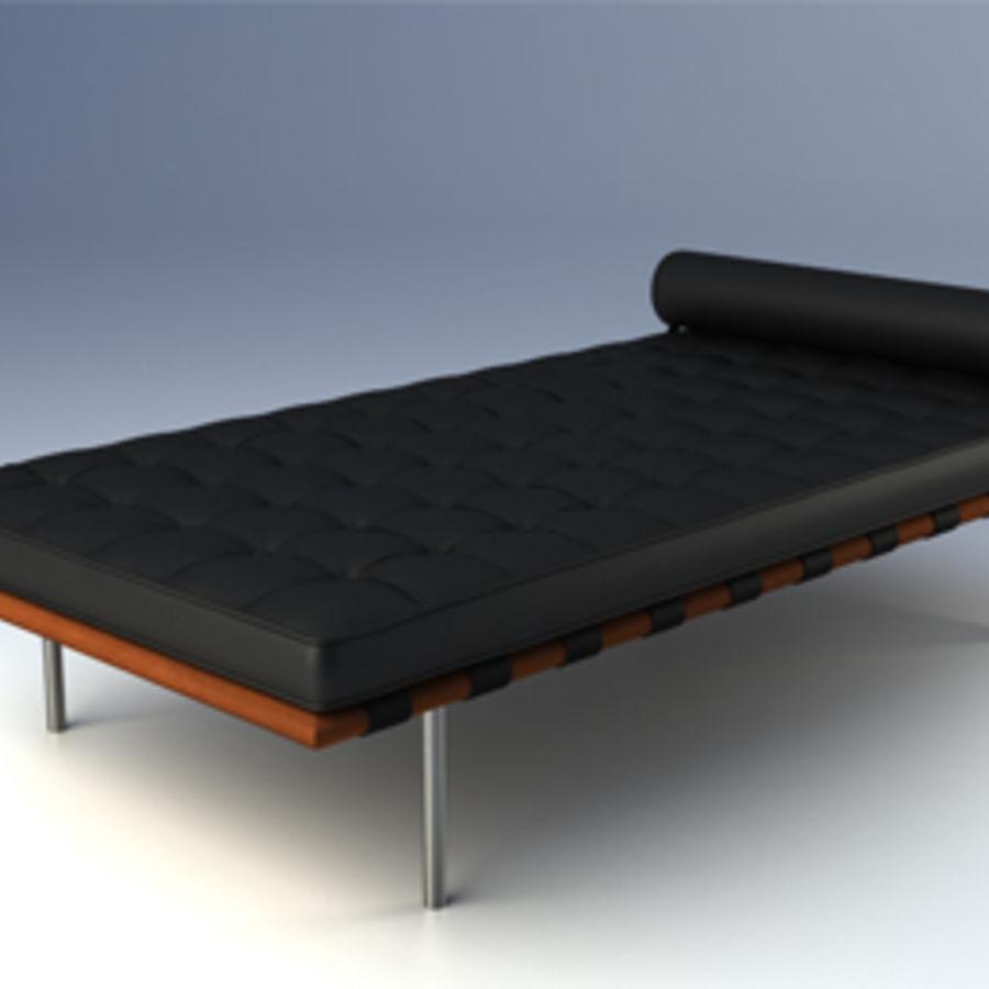 Collection de meubles de Barcelone royalty-free 3d model - Preview no. 6