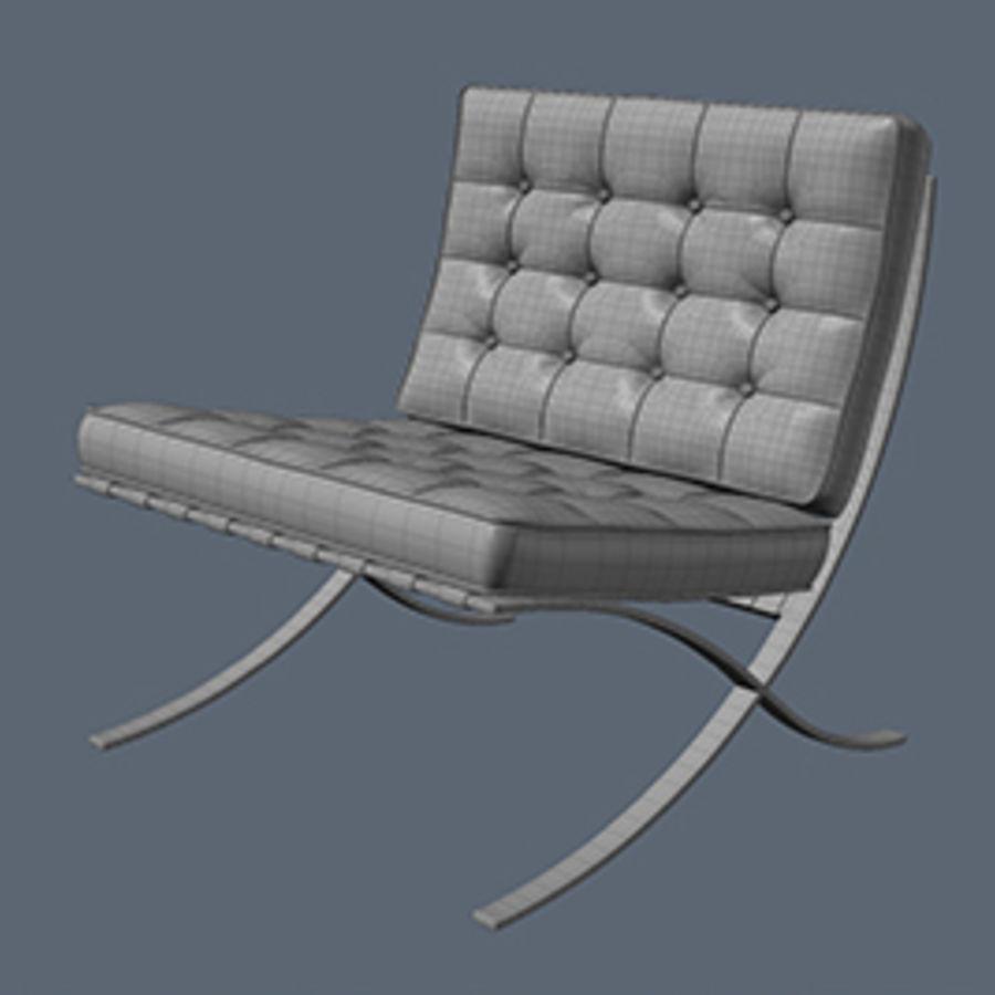 Collection de meubles de Barcelone royalty-free 3d model - Preview no. 5
