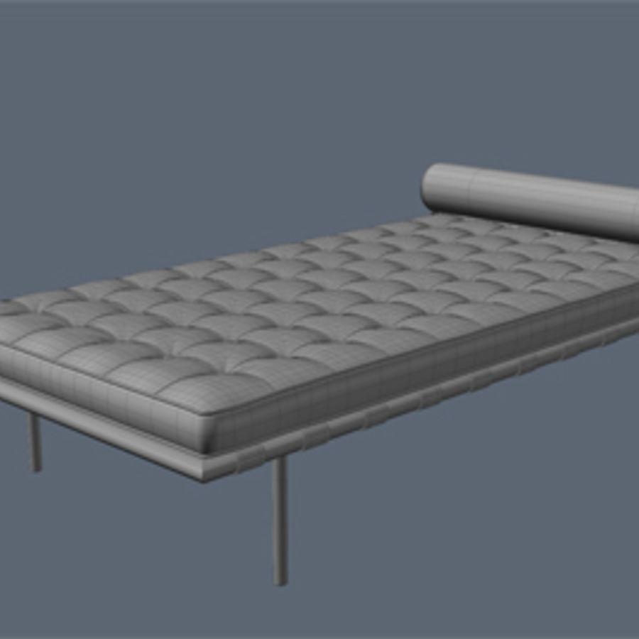 Collection de meubles de Barcelone royalty-free 3d model - Preview no. 7