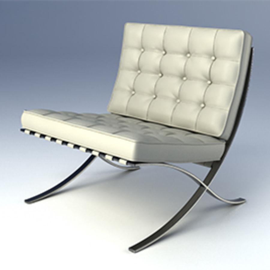 Collection de meubles de Barcelone royalty-free 3d model - Preview no. 4