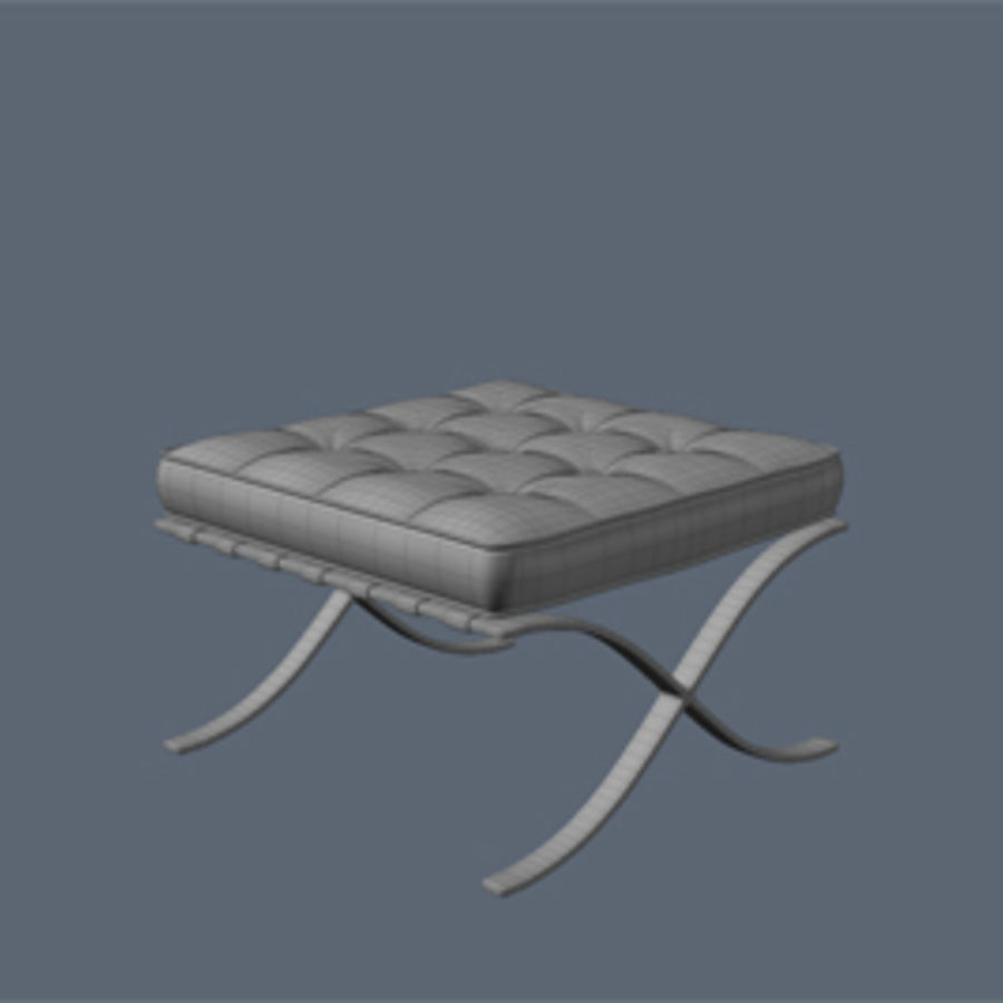 Collection de meubles de Barcelone royalty-free 3d model - Preview no. 9