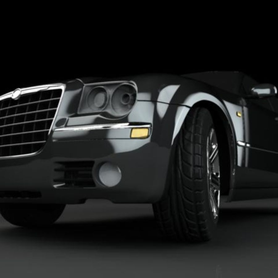 Chrysler 300C royalty-free 3d model - Preview no. 2