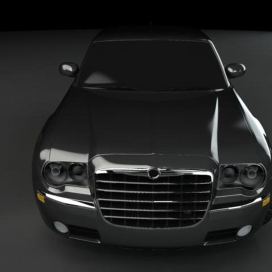 Chrysler 300C royalty-free 3d model - Preview no. 4