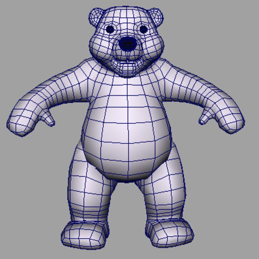 polarBear_obj.obj royalty-free 3d model - Preview no. 4