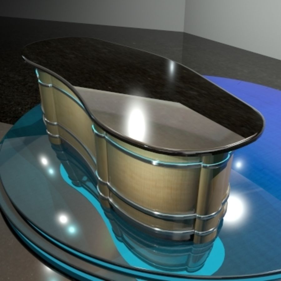 Desk.zip royalty-free 3d model - Preview no. 3