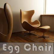 Egg Chair 3ds Obj Fbx 3d model