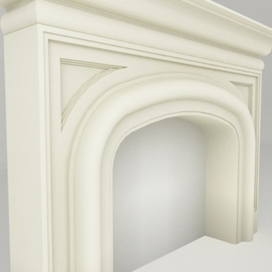 Manto de chimenea royalty-free modelo 3d - Preview no. 3