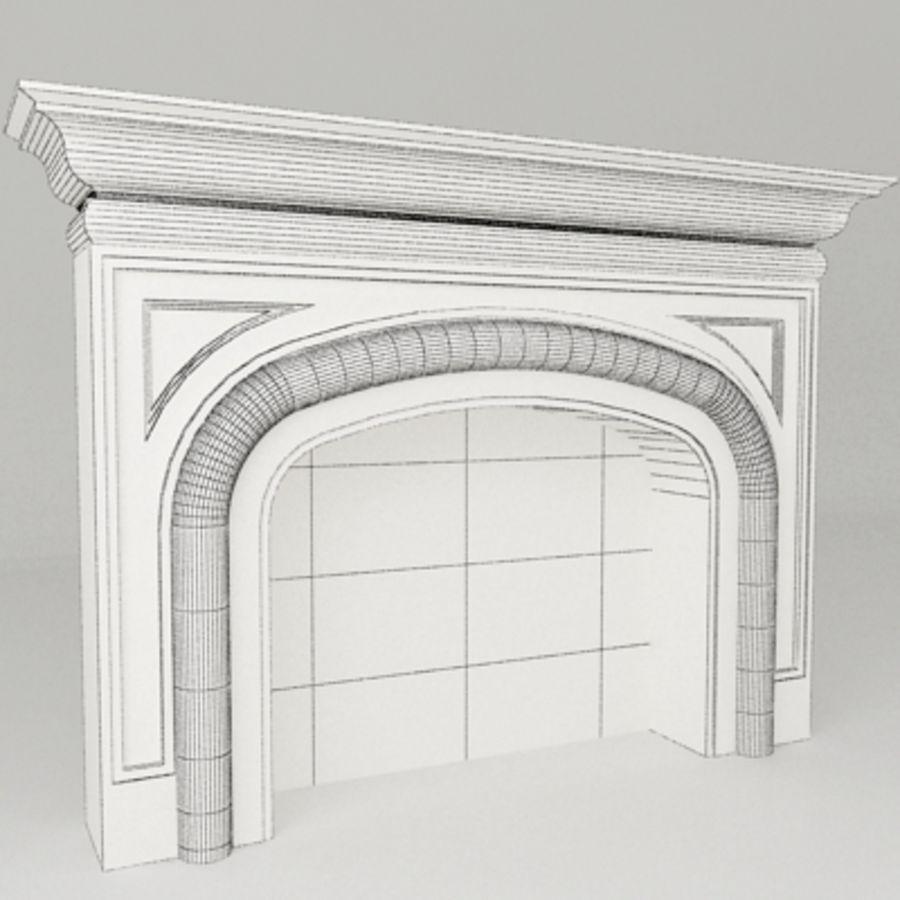 Manto de chimenea royalty-free modelo 3d - Preview no. 4