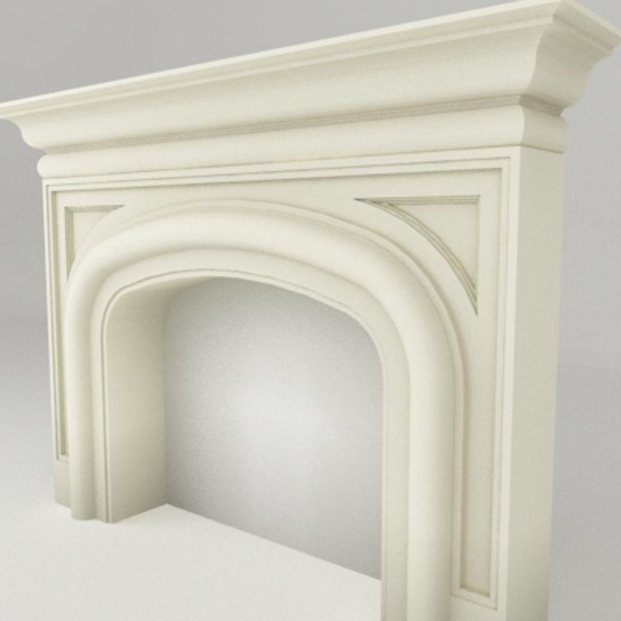 Manto de chimenea royalty-free modelo 3d - Preview no. 2