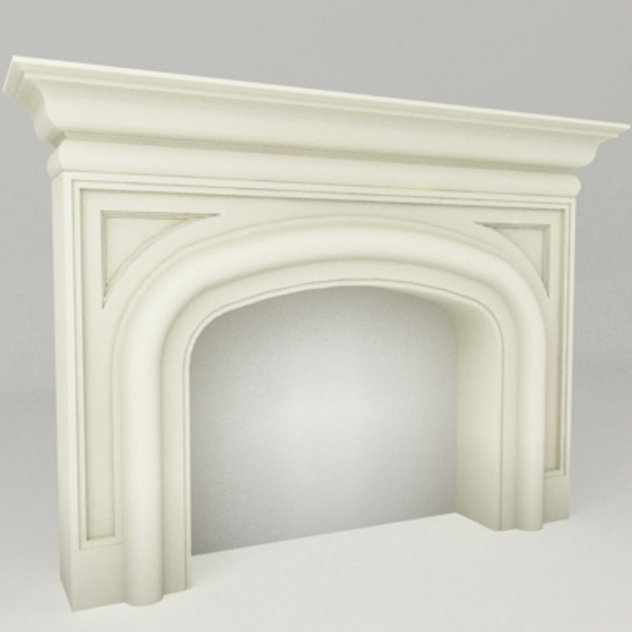 Manto de chimenea royalty-free modelo 3d - Preview no. 1