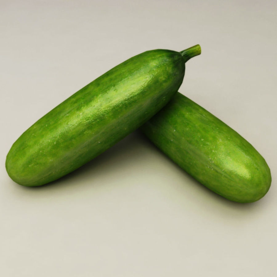 Cucumber royalty-free 3d model - Preview no. 3