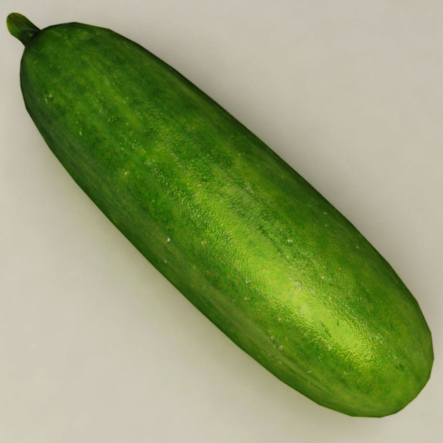 Cucumber royalty-free 3d model - Preview no. 4