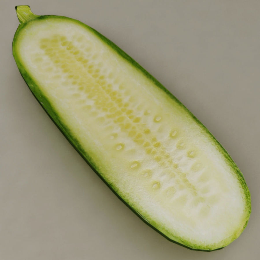 Cucumber royalty-free 3d model - Preview no. 9