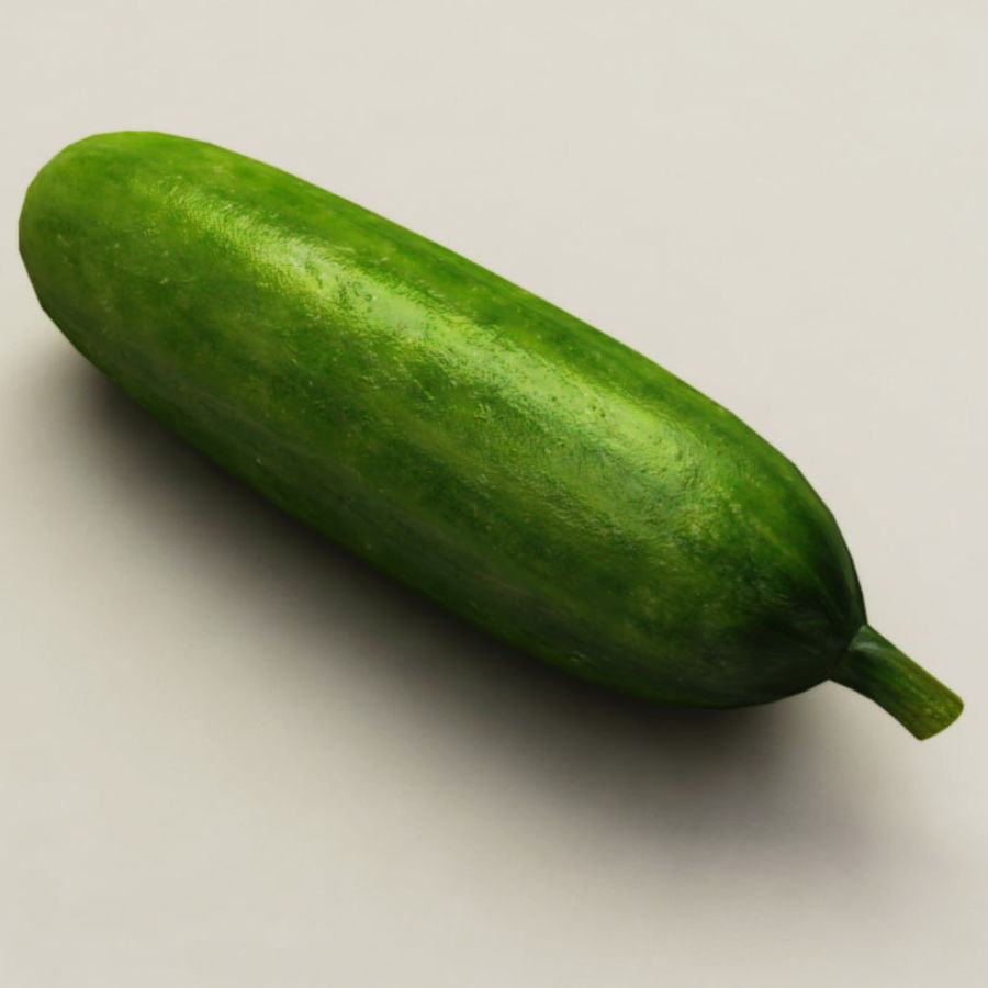 Cucumber royalty-free 3d model - Preview no. 7