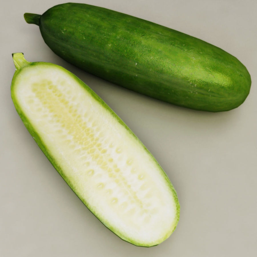 Cucumber royalty-free 3d model - Preview no. 2