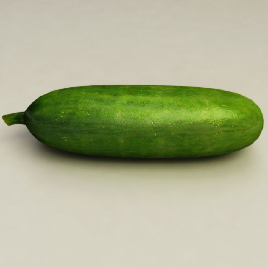 Cucumber royalty-free 3d model - Preview no. 5
