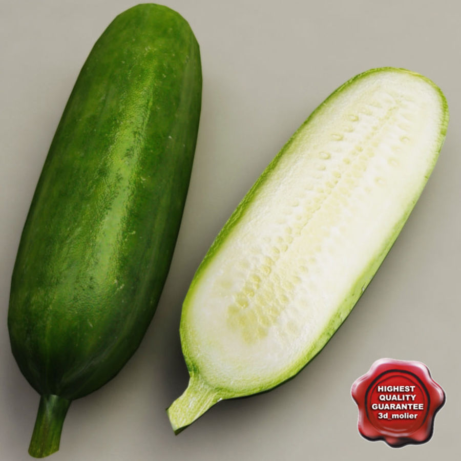 Cucumber royalty-free 3d model - Preview no. 1