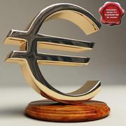 Euro-symbool 3d model