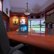 high def studio mansion 3d model