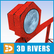 Runway verlicht 02 door 3DRivers 3d model