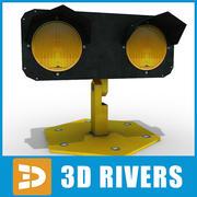Start-en landingsbaan verkeerslicht door 3DRivers 3d model
