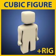 figura cúbica simples 3d model