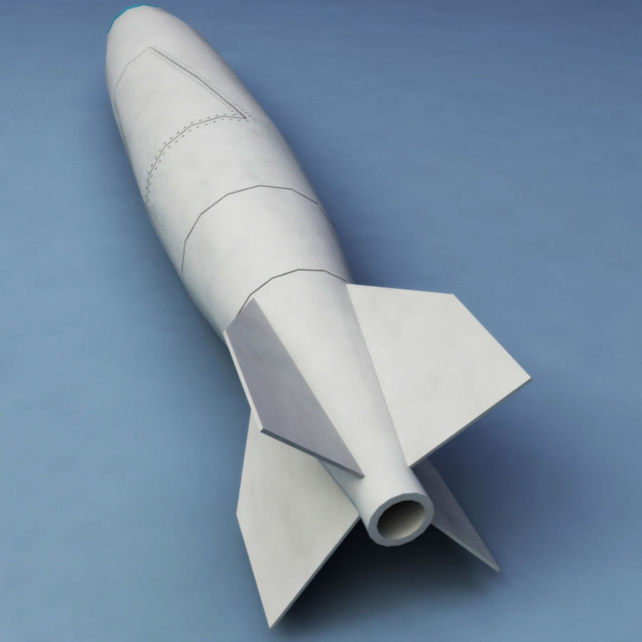 Rocket Mark 84 bomb royalty-free 3d model - Preview no. 6