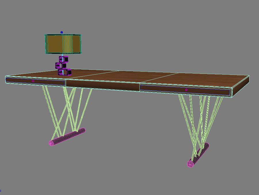 escritorio moderno royalty-free modelo 3d - Preview no. 4