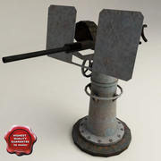 USS Drum anti-aircraft guns 20mm 3d model
