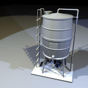 Roof Top Water Tank 01 3d model