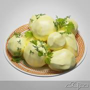 Gekochte Kartoffeln garnieren 3d model