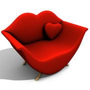 Sofá de dos plazas modelo 3d