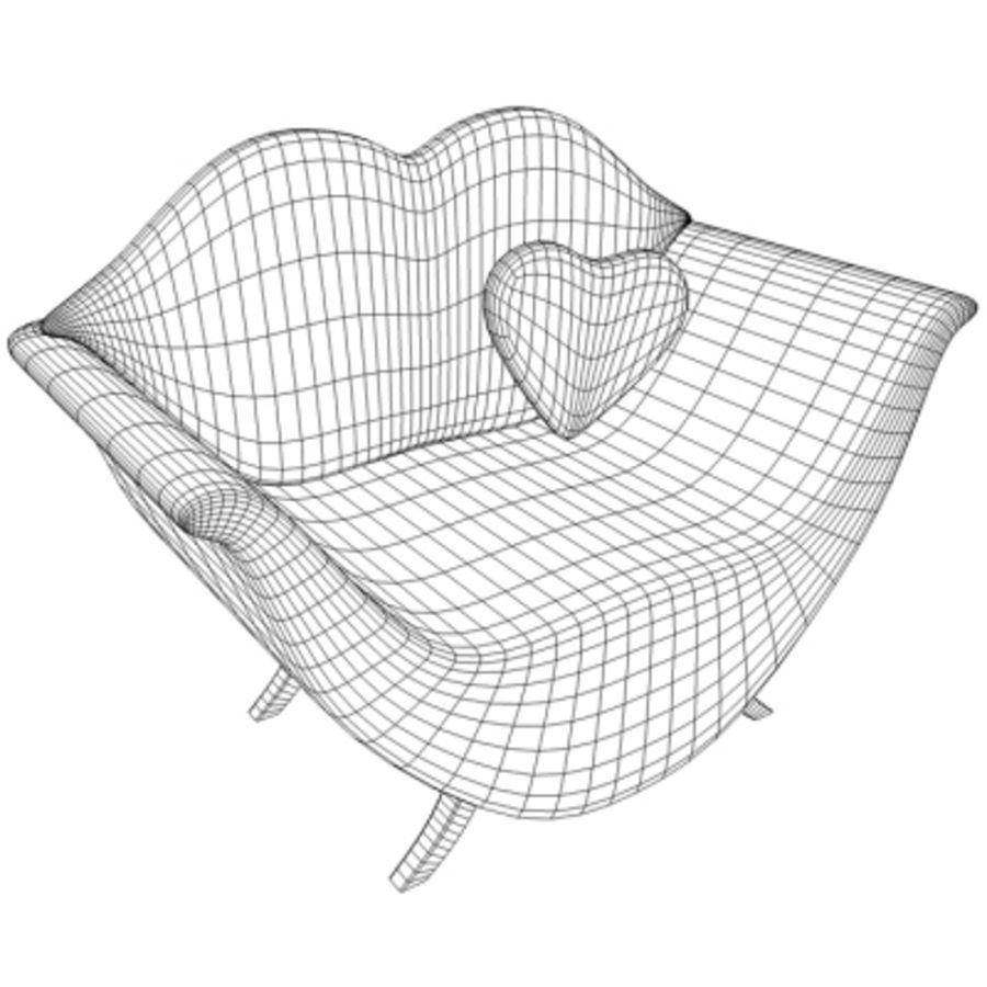 Assento de amor royalty-free 3d model - Preview no. 4