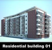 Residential building 01 3d model