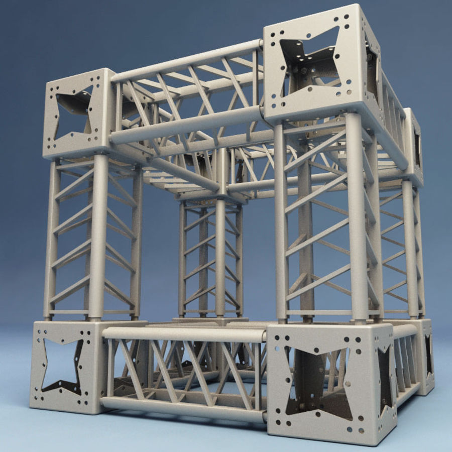 Steel Truss collection royalty-free 3d model - Preview no. 8
