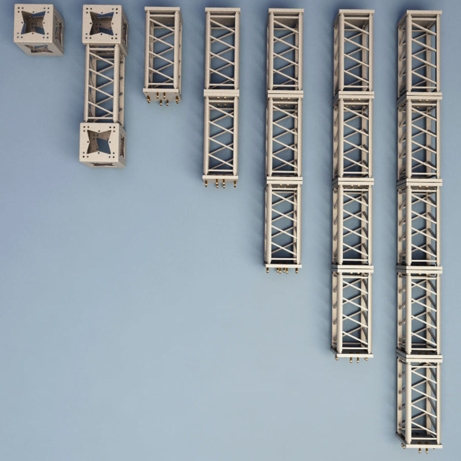 Steel Truss collection royalty-free 3d model - Preview no. 4