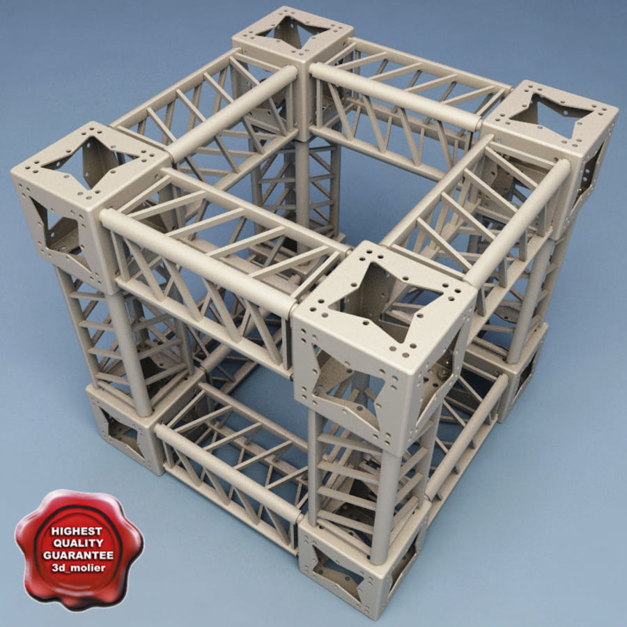 Steel Truss collection royalty-free 3d model - Preview no. 1