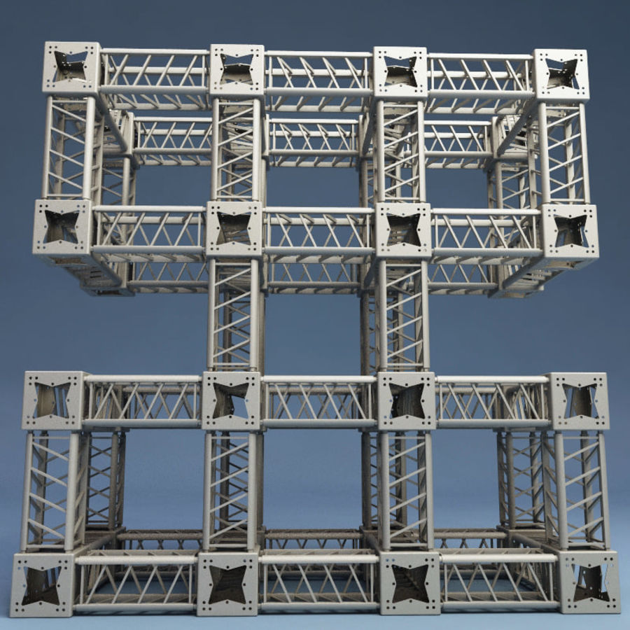 Steel Truss collection royalty-free 3d model - Preview no. 10