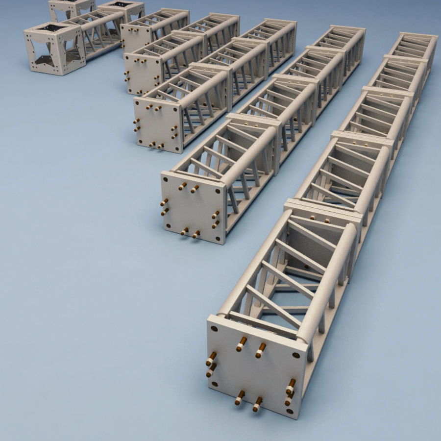 Steel Truss collection royalty-free 3d model - Preview no. 7